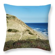Long Nook Beach Throw Pillow