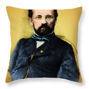 Louis Pasteur, French Chemist Throw Pillow by Science Source