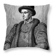 Louis Xi (1423-1483) Throw Pillow