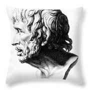 Lucius Annaeus Seneca Throw Pillow