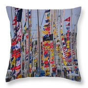 Mackinac Race Throw Pillow