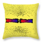 Magnetic Attraction Throw Pillow