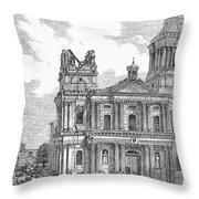 Manila: Earthquake, 1863 Throw Pillow