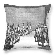 Moravians, 1757 Throw Pillow