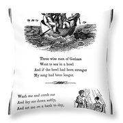 Mother Goose, 1833 Throw Pillow