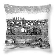New Jersey, 1844 Throw Pillow