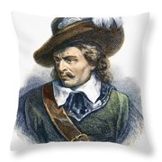 Oliver Cromwell (1599-1658) Throw Pillow