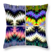 4 Panel Look Hearts Ud Fractal 64 Throw Pillow