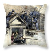 Paris Commune, 1871 Throw Pillow