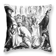 Persecution Of Waldenses Throw Pillow