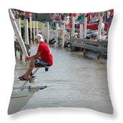 Port Huron To Mackinac Race Throw Pillow
