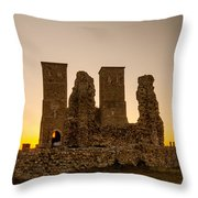Reculver Towers Throw Pillow