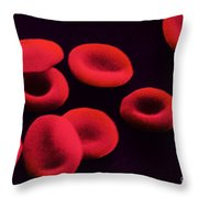 Red Blood Cells Throw Pillow by Omikron