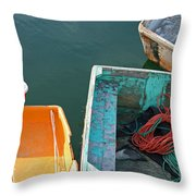4 Row Boats Throw Pillow