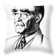 Rudyard Kipling (1865-1936) Throw Pillow