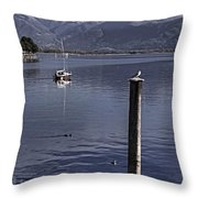 Sailing Boat Throw Pillow
