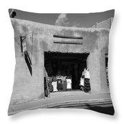 Santa Fe Shops Throw Pillow