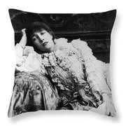 Sarah Bernhardt Throw Pillow