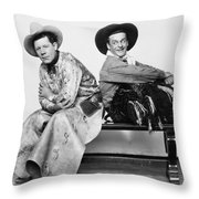 Silent Film Still: Cowboys Throw Pillow