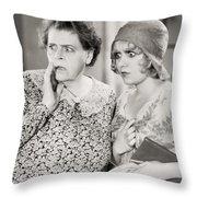 Silent Film Still: Women Throw Pillow