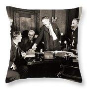 Silent Still: Board Meeting Throw Pillow