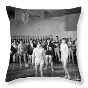 Silent Still: Exercise Throw Pillow