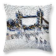 Southbank London Art Throw Pillow