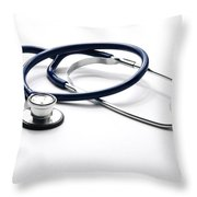 Stethoscope Throw Pillow by Photo Researchers, Inc.