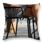 Stripped Dress Throw Pillow