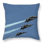 The Blue Angels Perform Aerial Throw Pillow