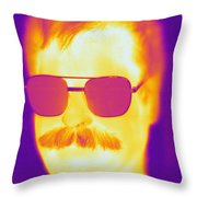 Thermogram Of A Man Throw Pillow