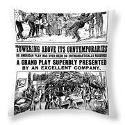 Uncle Toms Cabin Throw Pillow