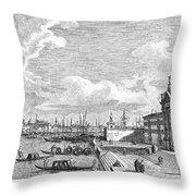 Venice: Grand Canal, 1742 Throw Pillow