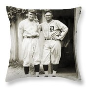 Walter Johnson (1887-1946) Throw Pillow