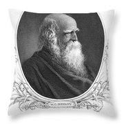 William Cullen Bryant Throw Pillow