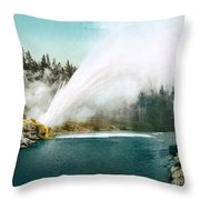 Yellowstone Park: Geyser Throw Pillow