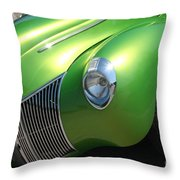 40 Ford - Front Driver Angle-8665 Throw Pillow