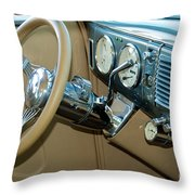 40 Ford Coupe Dash Throw Pillow