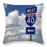 40 West Throw Pillow
