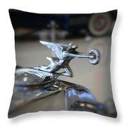 41 Packard Hood Ornament Throw Pillow