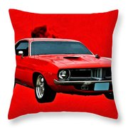 440 Charger Throw Pillow