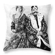 Silent Still: Man & Woman Throw Pillow