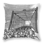 Great Railroad Strike, 1877 Throw Pillow