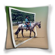 4h Horse Competition Throw Pillow