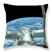 A Portion Of The International Space Throw Pillow