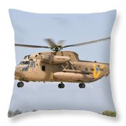 A Sikorsky Ch-53 Yasur Of The Israeli Throw Pillow