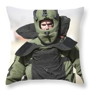 A U.s. Marine Gets Suited Throw Pillow