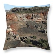 Abandoned Manganese Mine At Cape Vani Throw Pillow