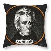 Andrew Jackson, 7th American President Throw Pillow