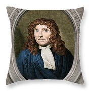 Anton Van Leeuwenhoek, Dutch Throw Pillow